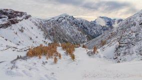 Snowy-Gebirgsdolomit lizenzfreie stockfotografie