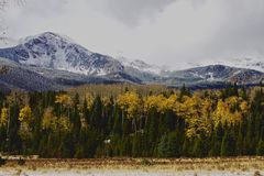Snowy-Gebirgshintergrund lizenzfreie stockfotos