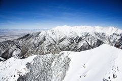 Snowy-Gebirgslandschaft, Kolorado. lizenzfreies stockbild