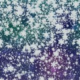 Snowy generated background texture. Snowflakes snowy generated neon blue background texture Royalty Free Stock Photography