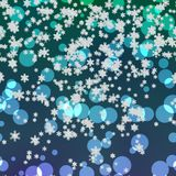 Snowy generated background texture. Snowflakes snowy generated neon blue background texture Royalty Free Stock Photos