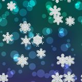 Snowy generated background texture. Snowflakes snowy generated neon blue background texture Royalty Free Stock Image