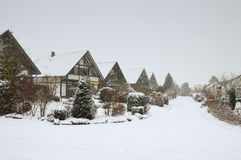 Snowy german village Stock Photography
