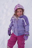 Snowy Girl Royalty Free Stock Photography