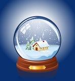 Snowy glass ball Stock Photo