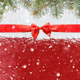 Snowy glittering christmas or new year background Stock Photos
