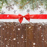 Snowy glittering christmas or new year background Royalty Free Stock Images