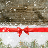 Snowy glittering christmas or new year background Stock Images