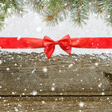 Snowy glittering christmas or new year background Stock Photography
