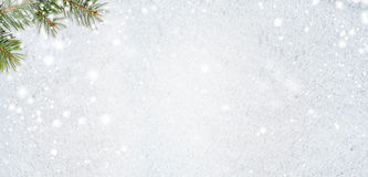 Snowy glittering christmas or new year background Royalty Free Stock Image