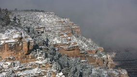 Snowy Grand Canyon stock video