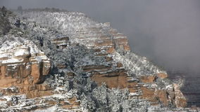 Snowy Grand Canyon Winter stock video