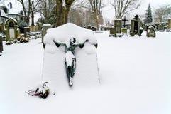 Snowy Grave Stock Image