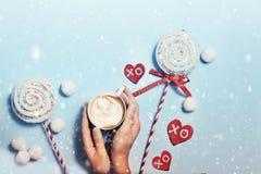 Snowy-Grußkarte Stockfotos