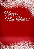 Snowy Happy New Year 3D Card Background. Happy New Year Snowy Blank 3D Greeting Card Background Template Stock Photos