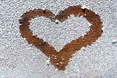 Snowy heart Royalty Free Stock Photography