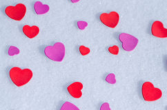 Snowy Hearts Royalty Free Stock Photos