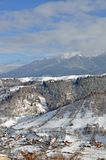 Snowy high landscape Stock Photos