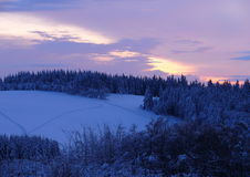 Snowy Highlands. Winter in some nice place in Czech Republic Stock Photo