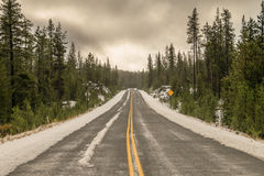 Snowy Highway Stock Images