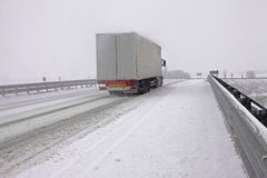 Snowy Highway Royalty Free Stock Image
