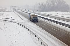 Snowy Highway Royalty Free Stock Images