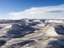 Snowy Hill Landscape Royalty Free Stock Photo