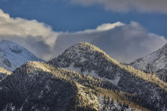 The Snowy Hill. Snow covers the Wasatch mountains a shot taken from the Salt Lake City Valley in Utah USA Royalty Free Stock Images