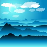 Snowy hills illustration Royalty Free Stock Image