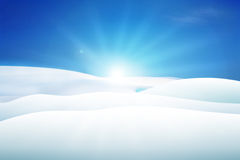 Snowy Hills Stock Photography