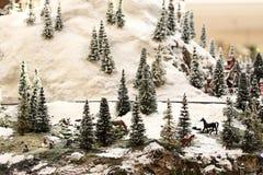 Snowy Hillside Stock Image