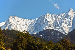 Snowy Himalayan range Royalty Free Stock Photo