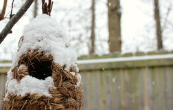 Snowy home Stock Images