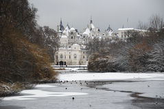Snowy Horse Guards Parade Royalty Free Stock Images