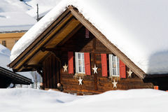 Snowy hotel near the Grindelwald ski area. On the mountain. Switzerland Stock Photo