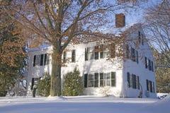 Snowy house Stock Photos