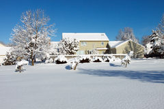 Snowy house Royalty Free Stock Photography