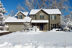 Snowy house Stock Images