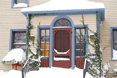Snowy House Stock Image