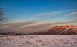 Snowy Iceland landscape Royalty Free Stock Image