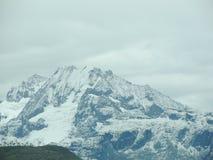 Snowy Inca Peak Royalty Free Stock Images