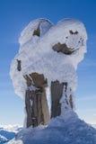 Snowy Inukshuk Fotografie Stock