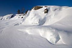 Snowy isle Stock Image