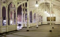 Snowy Karlovy schwanken bis zum Nacht Lizenzfreie Stockfotos