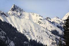 Snowy Kendall Peak Snoqualme Pass Washington Stock Image