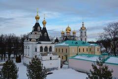 Snowy Kremlin of Dmitrov Royalty Free Stock Images