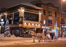 Snowy-Kutschfahrt Lizenzfreie Stockfotografie