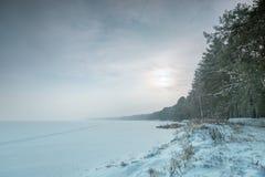 Snowy lake Stock Photos