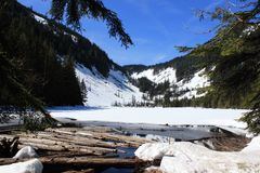 Snowy Lake Talapus, WA. Snowy Lake Talapus in Washington State Royalty Free Stock Images