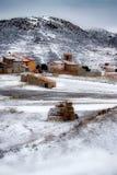 Snowy-Landlandschaft, Stockbild